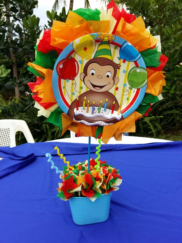 Curious George centerpiece