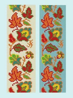 Bead Loom Vintage Floral Border 7 Bracelet par MyTreasureIsland