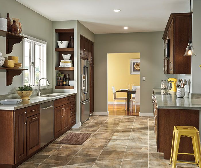 diamond at lowes - lamar cherry havana in 2020   grey kitchen floor, kitchen design, kitchen