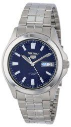 Seiko Men's SNKL07 Seiko 5 Automatic Stainless Steel Watch with Blue Dial