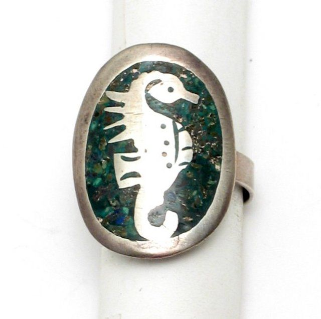 Taxco Sterling Seahorse Ring