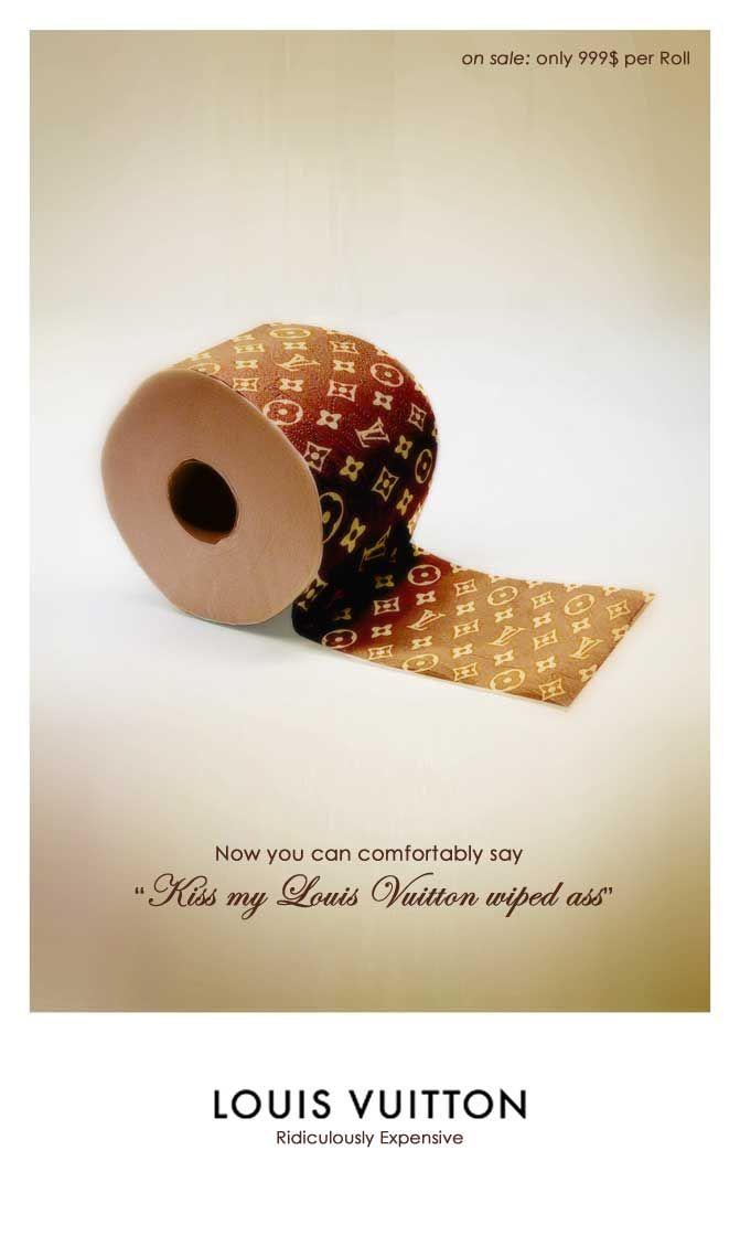 l: Louisvuitton, Advertis Parody, Louis Vuitton, Laugh, Toilets Paper, Funny Commercials, Design, Kisses, Toilet Paper