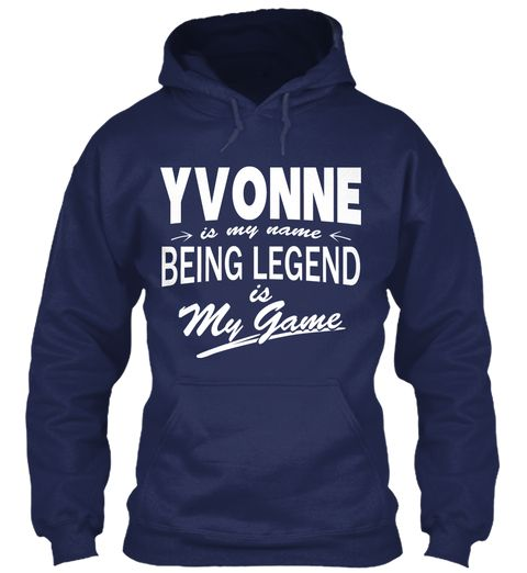 Yvonne Name, Legend Game Navy Sweatshirt Front