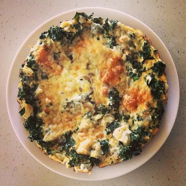 Fuel Fit | Easy Kale and Garlic Omelette