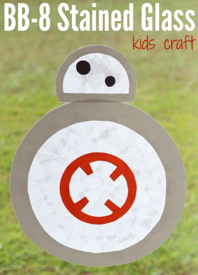 Stained Glass Bb 8 Kids Craft For Star Wars The Force