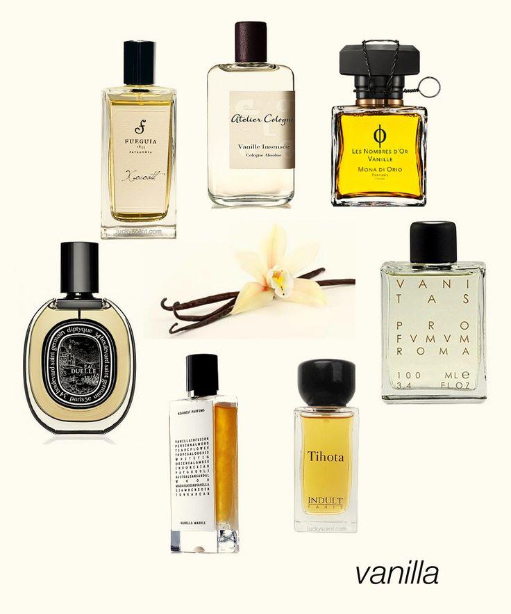 Heavenly Vanillas: Vanille Insensee, Vanille by Mona di Orio, Vanitas, Tihota, Vanilla Marble, Eau Duelle EDP, and Xocoatl. #niche #perfume #luckyscent