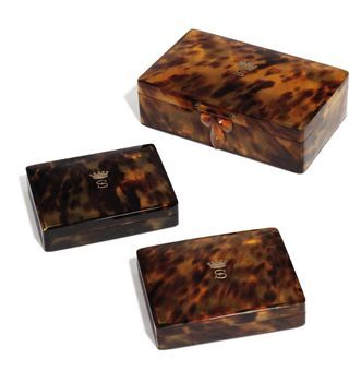 antique tortoiseshell boxes