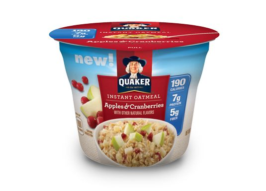 Instant Quaker® Oatmeal Cups Apples & Cranberries - this is delicious!