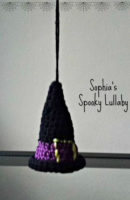 Witch's Hat. Handcrochet Halloween Home Ornament. Pattern Free:http://www.lionbrand.com/patterns/L0259AD.html?noImages=0;ss=