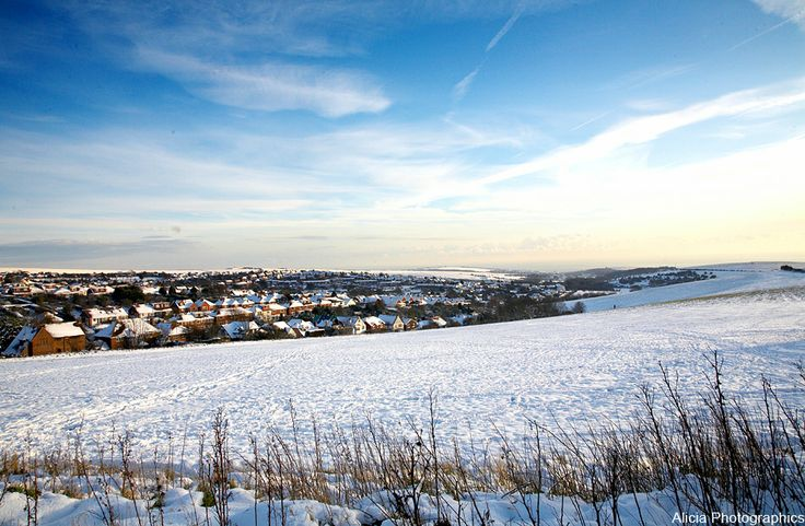 Snow covered Woodingdean. Photo by Alicia Photographics.