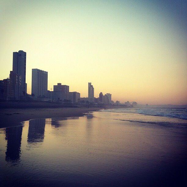 Day 12: Sunset - stunning Durban beachfront