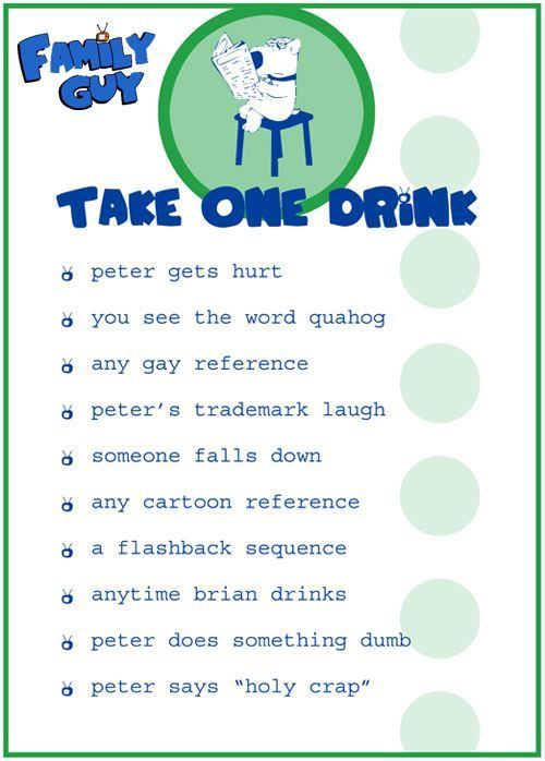 Family Guy drinking game :)
