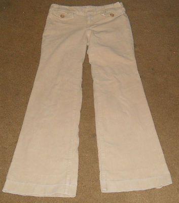 BANANA REPUBLIC light beige corduroy pants trouser cords size 2 ~ starts at $2.50
