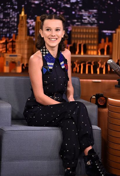 Millie Bobby Brown visits 'The Tonight Show Starring Jimmy Fallon' on October 31, 2017 in New York City.