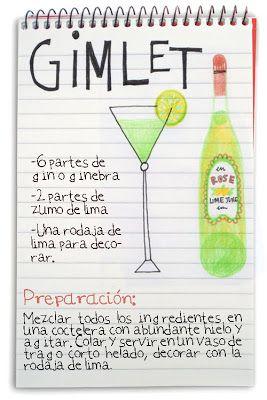 Receta cóctel Gimlet - Descubre Catabox - Packs Gin Tonic y Vino - El regalo perfecto para los amantes de las cosas buenas y bonitas