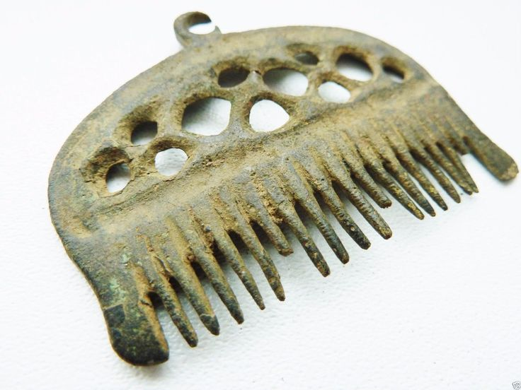 ANCIENT BRONZE PENDANT COMB AMULET(b717)