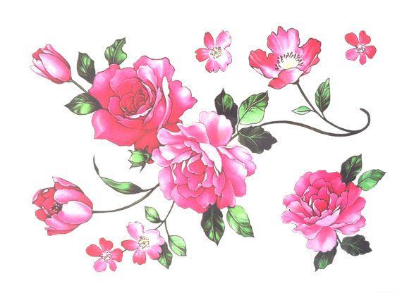 Rosa Blume Schulter Tattoo Blumen Tattoo Vintage von TattooCrush