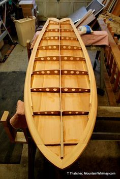 Cool website that shows you the steps in making a custom wood surfboard and wood boats.