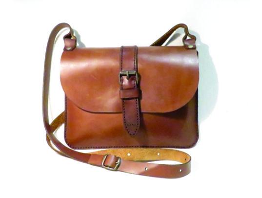 BUCKLE 25cm X 18cm CROSSBODY CLUTCH BAG Genuine leather, Laser cut, Hand stitched
