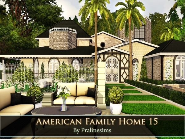 American Family Home 15 by Pralinesims - Sims 3 Downloads CC
