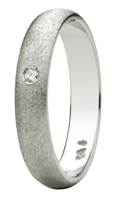 Oro Blanco de 18 quilates. Diamante natural talla brillante.
