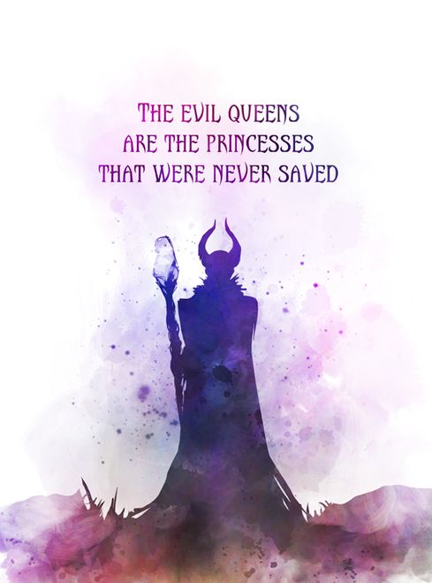 Maleficent Quote ART PRINT Sleeping Beauty, Queen, Princess, Fairy Tale, Gift, W…