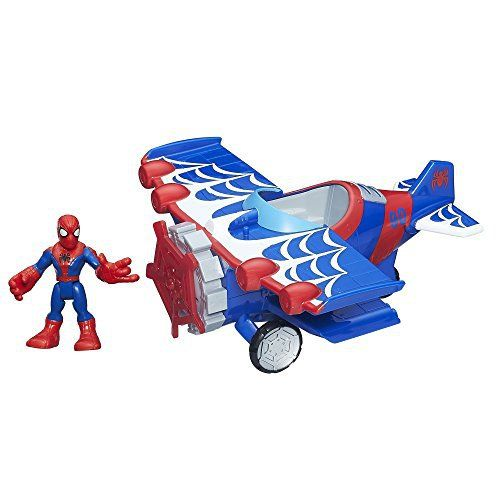 Crime fighters-in-training can imagine saving the day with one of their favorite Marvel Super Hero Adventures figures! With his stunt wing spider plane vehicle, the Spider-Man figure can stand on its wing, even when kids hold the plane upside down! Little heroes can fit Spider-Man in the... more details available at https://perfect-gifts.bestselleroutlets.com/gifts-for-babies/toys-games-gifts-for-babies/product-review-for-playskool-heroes-marvel-super-hero-adventures-stunt-wi