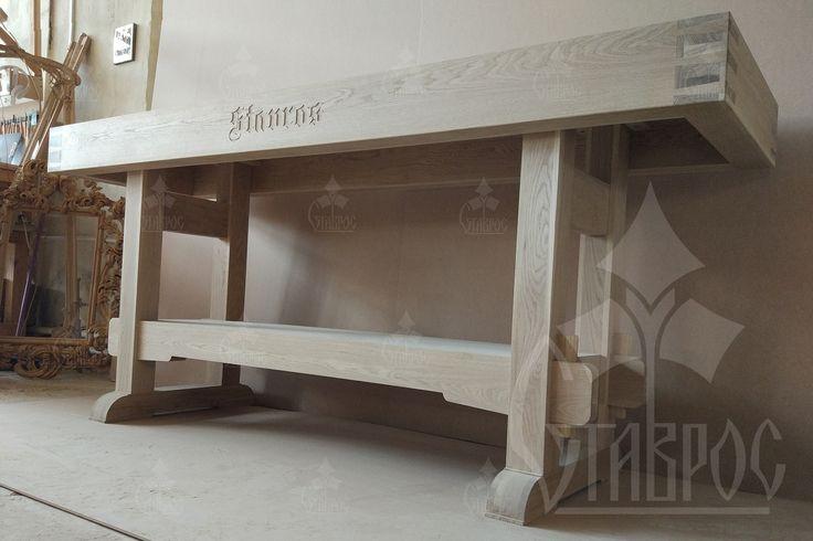 Столярный верстак из массива дуба. #лофт #дизайн #стол #мастерская #дерево Woodworking table from solid oak. #loft #design #wood #wooden #furniture