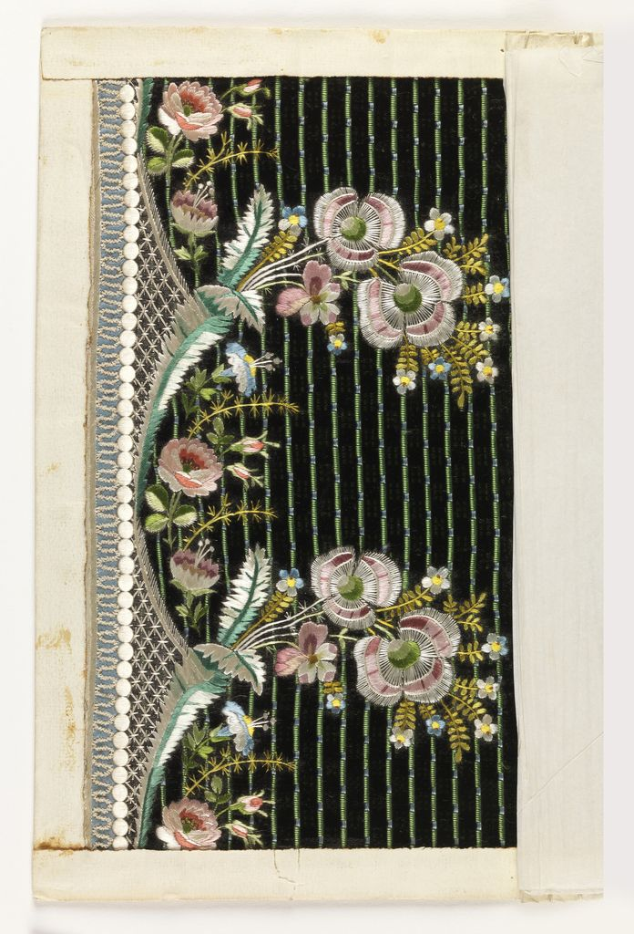 Embroidery Sample (France), 1775–1805