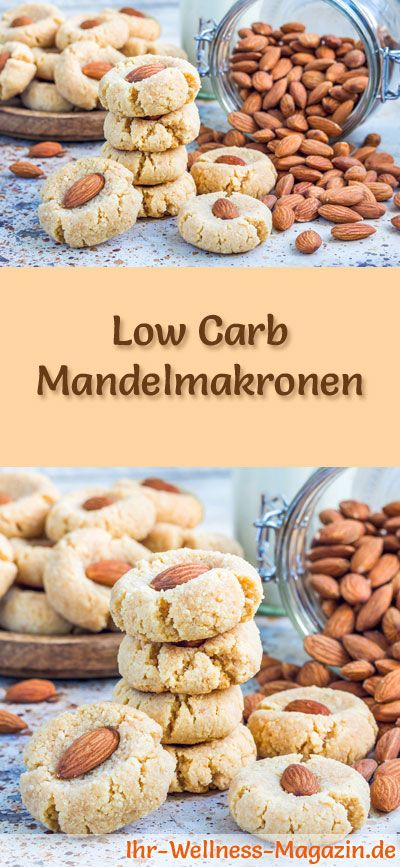 Low-Carb-Weihnachtsgebäck-Rezept für Mandelmakronen: Kohlenhydratarme, kalorienreduzierte Weihnachtskekse - ohne Getreidemehl und Zucker gebacken ... #lowcarb #backen #weihnachten