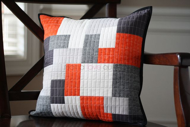 It's a Wrap quilted pillow by Mama Love Quilts