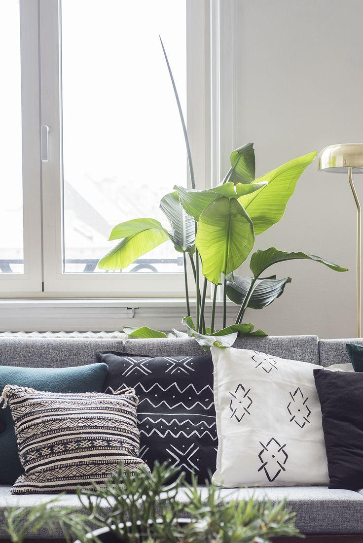 DIY Mudcloth Inspired Pillows / No Glitter No Glory