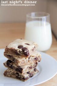 the baker upstairs: chocolate chip cookie bars