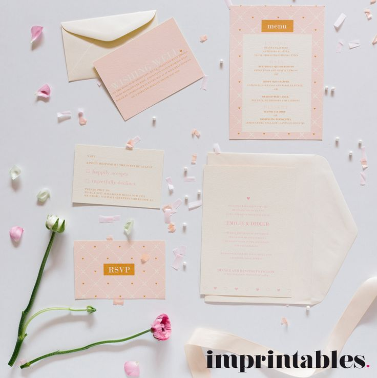 Mon Amour wedding invitation by IMPRINTABLES www.imprintables.com.au