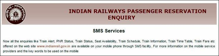 Indian Railway Enquiry SMS
