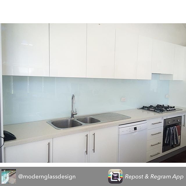 We just love glass Splashbacks  Repost from @modernglassdesign using Eskimo Blue Splashback. #framelessglass #splashback #frameless #glass #splash #back #backsplash #kitchen #interior #design #interiordesign