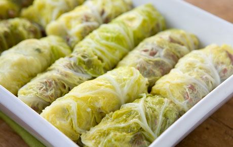 Corn Beef and Cabbage rolls.....a different spin on traditional cabbage rolls......I might have to try this with some leftover cornbeef.