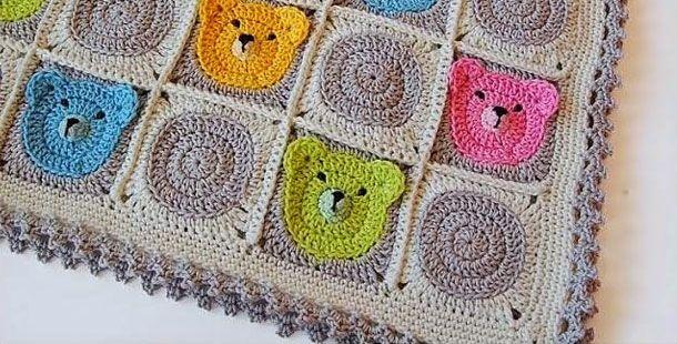 Ayıcıklı bebek battaniyesi
