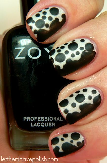 Mondo Guerra inspired Nail Art with Raven from Let Them Have Polish.