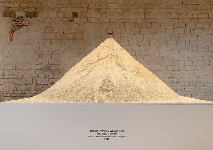 Wasted Time sand, hourglass 2013