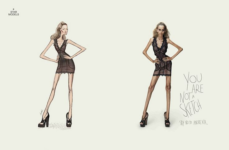 Public Awareness Ad -- You're Not A Sketch. Say No To Anorexia    Advertising Agency: Revolution Brasil