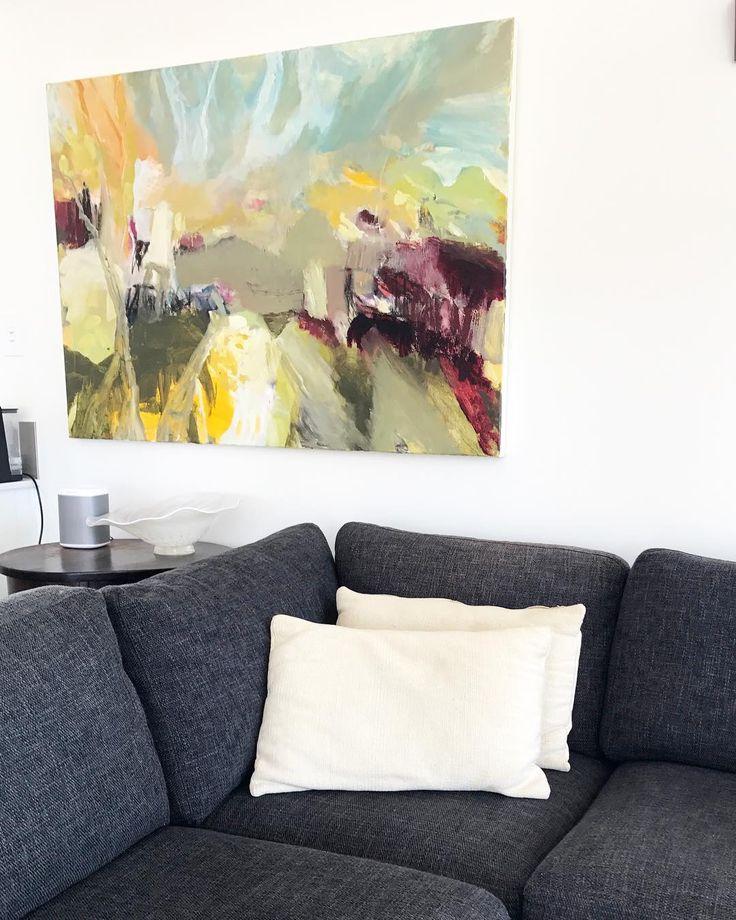 Doesn't look to bad at the moment hanging in the lounge! . . #oiloncanvas #abstractart #contemporaryart #abstractlandscape #australianartist #felicityoconnorartist #interiordesign #interior #interiordecorator #artwork #homedecor #artforinteriors