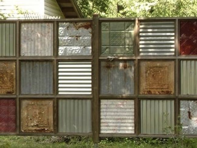 Corrugated Metal DIY - Fence                                                                                                                                                                                 More