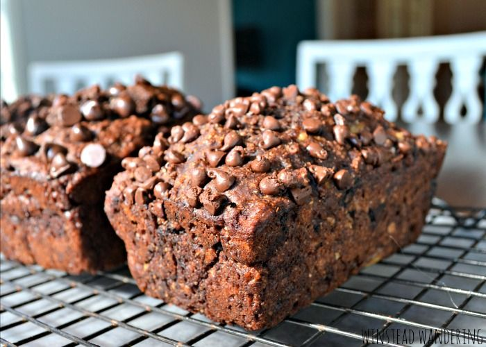 Better for you triple chocolate banana bread has no butter, oil, or added sugar- except for the chocolate, of course- while still delivering big on flavor. With sweet, moist bananas and three kinds of chocolate, this bread tastes decadently indulgent.