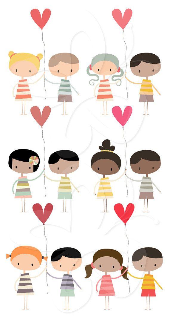 Cute Valentines Digital Clip Art