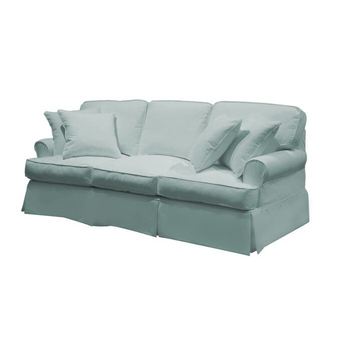 Telluride T Cushion Sofa Slipcover Cushions On Sofa Slipcovered