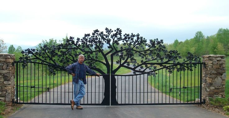 Custom Gates and Entrance designed for Ole Plantation in Western North Carolina.
