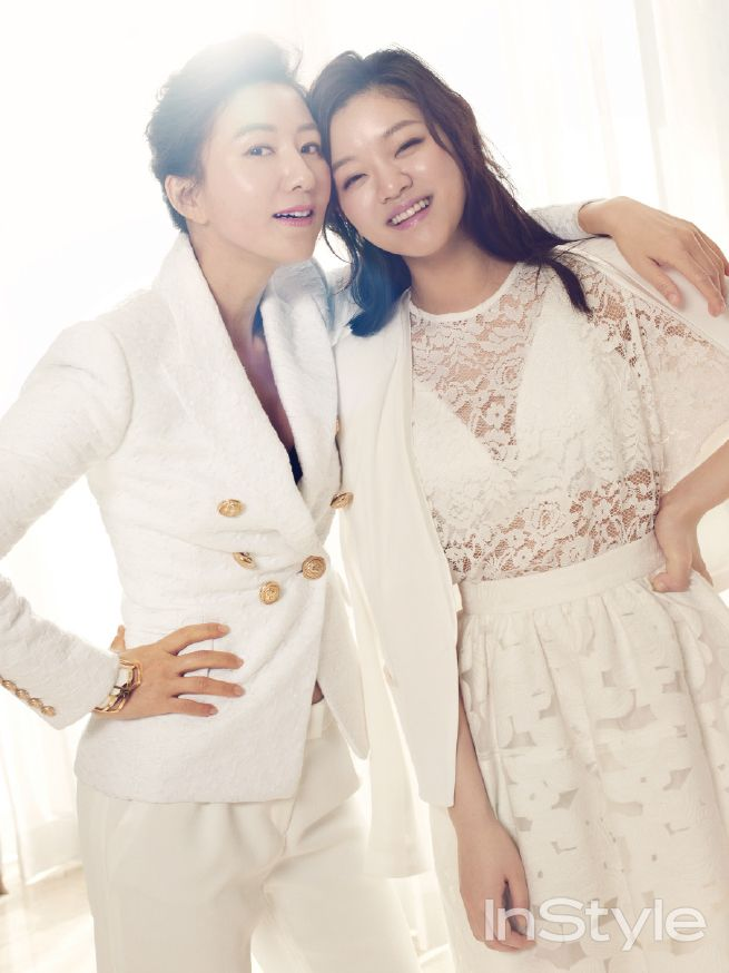Kim Hee Ae and Go Ah Sung - InStyle Magazine March Issue '14