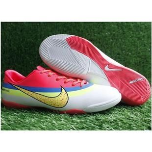 Nike Mercurial Vapor Superfly Fourth IC CR Indoor Football Shoes In White Electricity Blue Pink Yellow