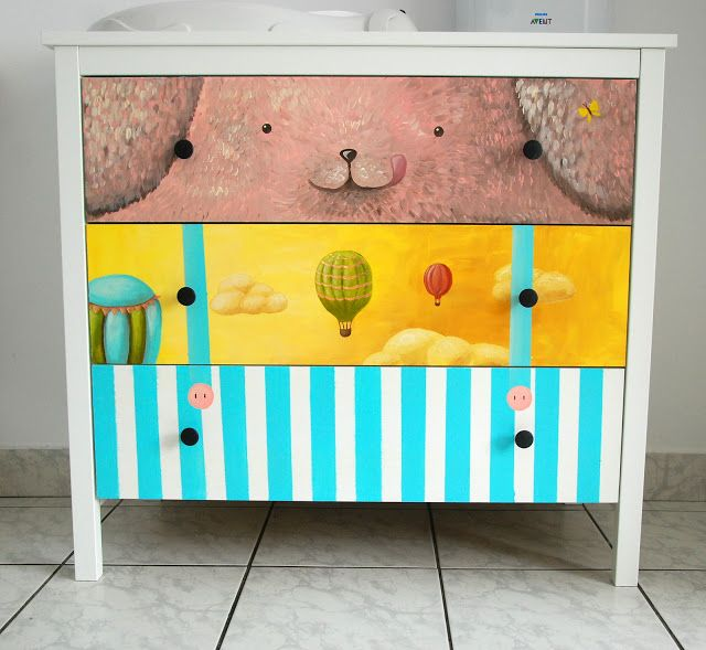 character hand painted on furniture